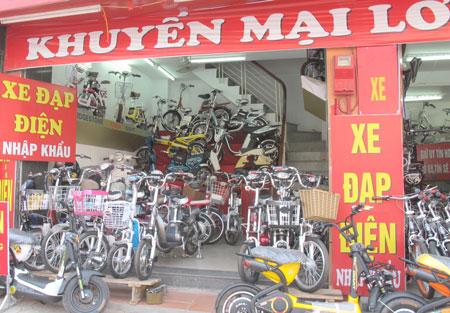 Ứng dụng phần mềm quản lý bán hàng cho cửa hàng xe đạp điện