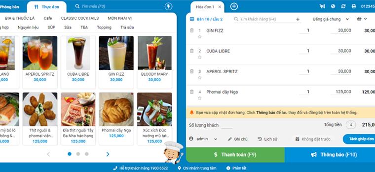 Phần mềm quản lý nhà hàng, đồ ăn sáng