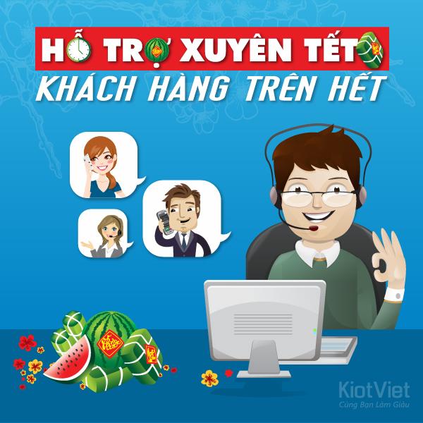KiotViet thông báo lịch hỗ trợ Tết Nguyên Đán 2016