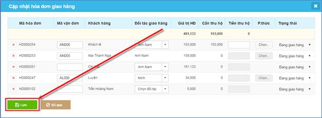 Khả năng tự động cập nhật trạng thái đơn hàng của KiotViet