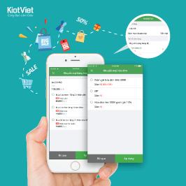 KiotViet áp dụng KHUYẾN MẠI & nâng cấp MẪU IN trên di động