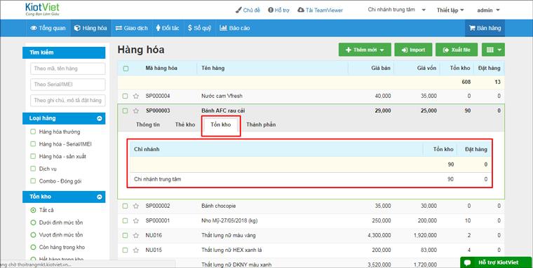 Quản lý hàng hóa hiệu quả với phần mềm KiotViet
