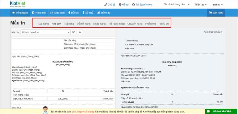 Có rất nhiều mẫu file quản lý bán hàng ở trên phần mềm KiotViet