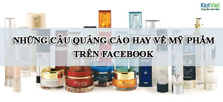 Những mẫu quảng cáo hay về mỹ phẩm trên facebook