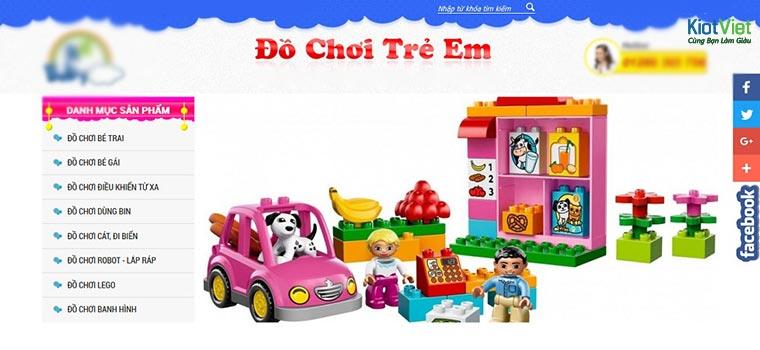 Website bán hàng đồ chơi trẻ em online