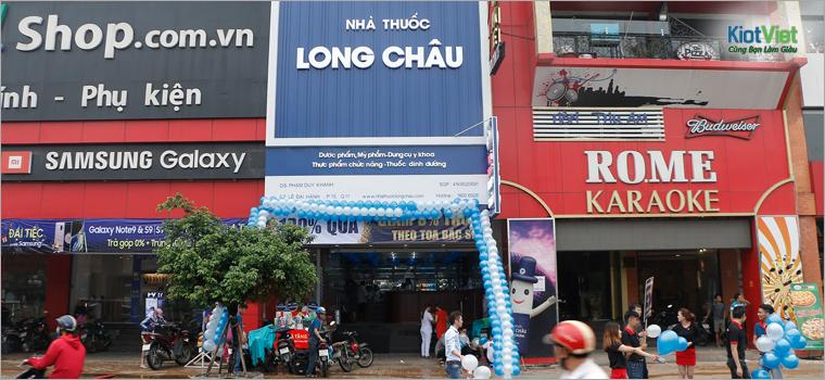Một nhà thuốc nằm trong chuỗi cửa hàng Long Châu ở TP.HCM