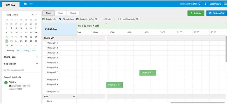 Quản lý lịch hẹn khách hàng bằng phần mềm quản lý spa online