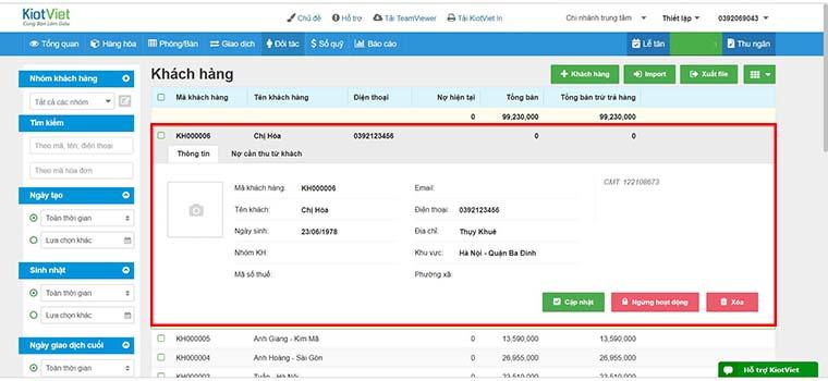 Phần mềm quản lý spa online chuyên nghiệp
