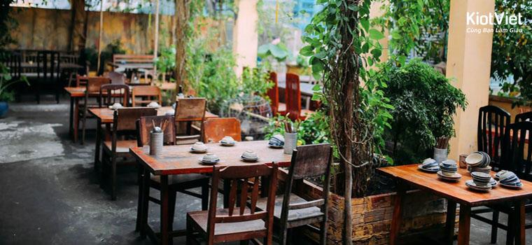 Bật ý cách thiết kế nhà hàng sân vườn đẹp lôi cuốn
