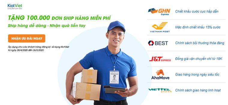 Tặng 100.000 đơn ship hàng MIỄN PHÍ: Ship hàng dễ dàng - Nhận quà liền tay