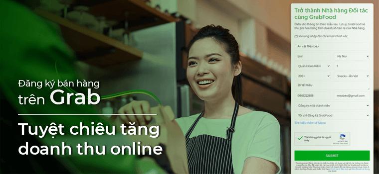 Đăng ký bán hàng trên Grab - Tuyệt chiêu tăng doanh thu online