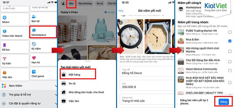 Cách đăng bán trên Marketplace bằng điện thoại di động