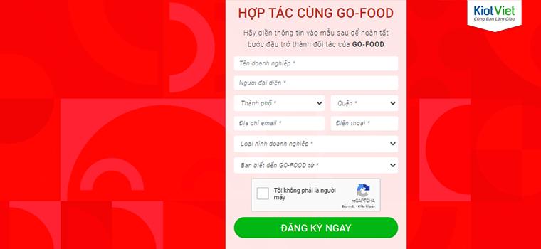 Cách đăng ký bán hàng trên Go Food/GoJek mới nhất