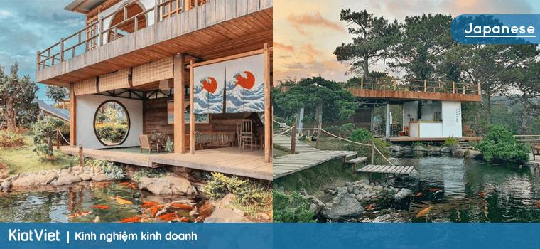 Phong cách thiết kế quán cafe Nhật Bản