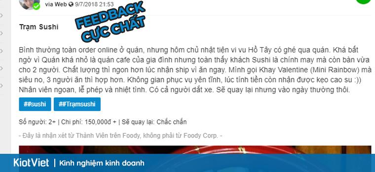 Feedback về Trạm Sushi