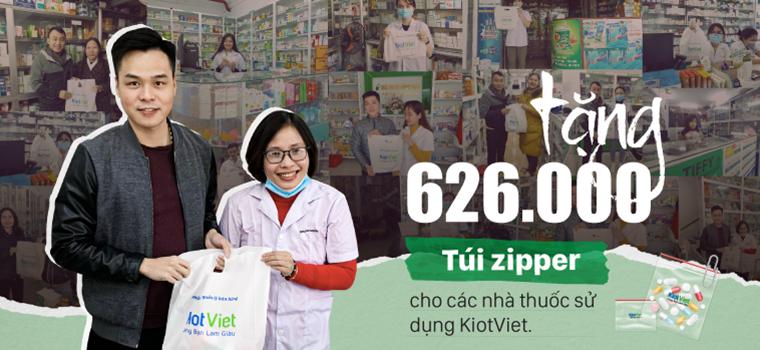 Tặng 626.000 túi zipper cho các nhà thuốc sử dụng KiotViet trong tháng 12