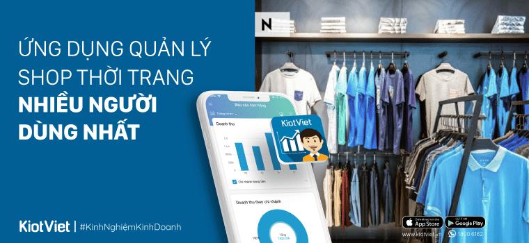 Ứng dụng quản lý shop thời trang, túi xách nhiều người dùng nhất