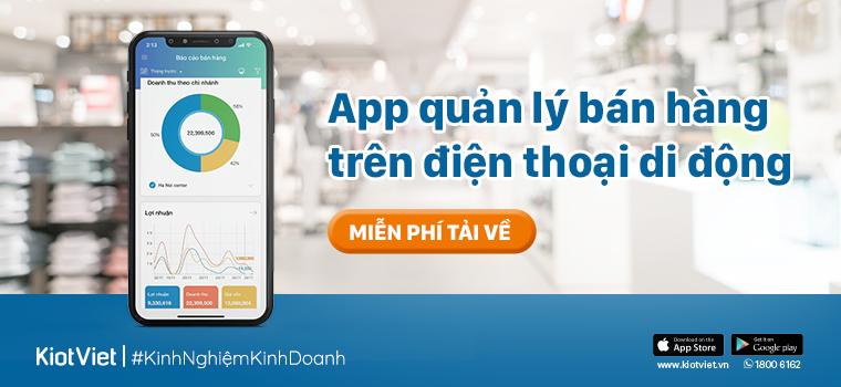 App quản lý bán hàng trên điện thoại di động
