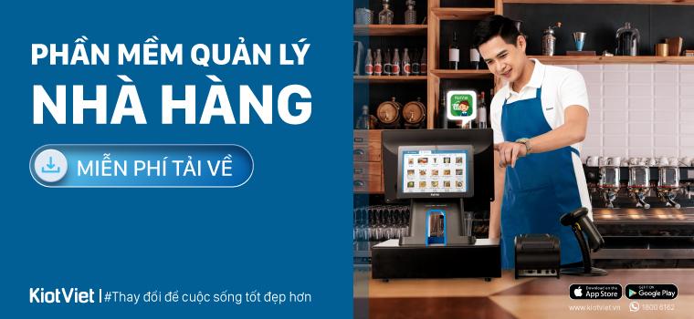 Phần mềm quản lý nhà hàng, quán ăn, Bar-Cafe tốt nhất