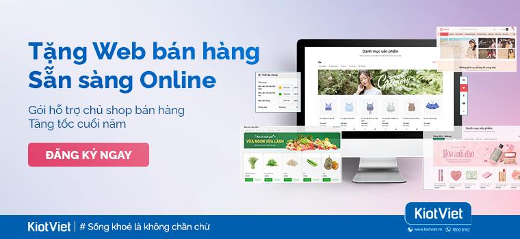 Tặng web bán hàng - Sẵn sàng online