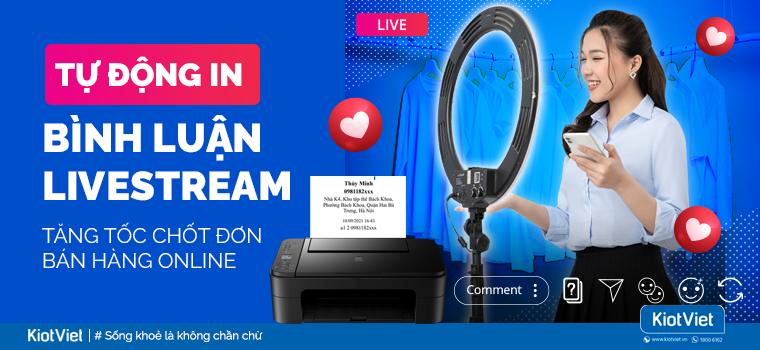 KiotViet nâng cấp tính năng Facebook Pos: Tự động in bình luận Livestream giúp chốt đơn dễ dàng