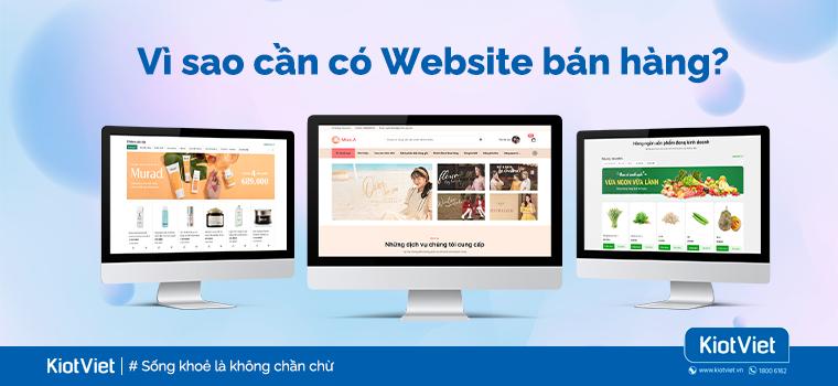 Vì sao bán hàng Online nhất định phải có Website riêng